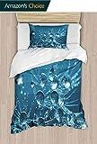 shirlyhome Bequemes Polyester-Bettwsche-Set mit 2 Wassertropfen auf einem Lwenzahn