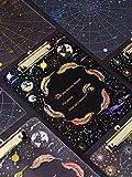 Ringbuch A4 Stern Brett Clip transparent Schreibblock rohen Test Konstellation kleine frische Schreibtest Papier Aufbewahrungstasche kreatives Briefpapier niedlich Informationsbuch Ordner schwarz Acry
