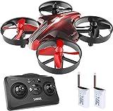 Mini drone SANROCK GD65A pour enfants et débutants, quadricoptère drone RC avec maintien en hauteur, mode sans tête, retour sur clé, meilleur drone jouet pour enfants, avec batterie supplémentaire, rouge