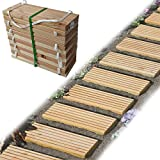 Gartenpirat Rollweg Holz 35x250 cm Gartentritte Holz-Tritte, Holz-Fliesen für den Weg im Garten