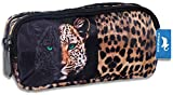 Diakakis Schlamperrolle mit 2 Fächern Doppel Faulenzer Stifte Etui Tier Leopard