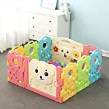 Lisansang Kinderspiel Zaun Indoor Sicherheit Anti-Skid-Baby Babyplaypen Kinder Activity Center...