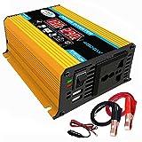 YHDQ Car Power Inverter Inverter 4000W DC 12V AC 110 / 220V-Auto-LKW/RV-Konverter mit LED-Anzeige Dual USB Ports und AC Car Power Inverter (Color : Yellow-110v)