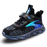 WYSBAOSHU Kinder-Sneaker Jungen Mädchen Laufschuhe Atmungsaktiv Leicht Casual Athletic Schuhe, Blau (Blau 3), 32 EU