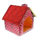 joyMerit Innen/Außen Baumwolle Hundehütte Shelter Abnehmbare House Cave Dog Houses