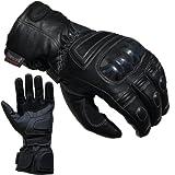 PROANTI Motorradhandschuhe Regen Winter Leder Motorrad Handschuhe Größen: S-XXL