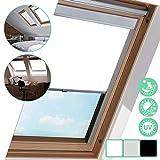 Dachfensterrollo Weiß Verdunkelungsrollo M06, Blickdicht Rollo, 100% Verdunkelung Thermo-Rollo, für Dachfenster