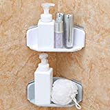 Zshhy Traceless Triangle Badezimmerregale Duschecke Regal Shampoo Lagerregal Badezimmer Korbhalter Organizer Duschregal weiß