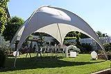 Beauty.Scouts Kuppelzelt Mia XL Partyzelt Sonnendach Sonnensegel Dach grau Stahlrohr hochwertig standfest wetterfest 500x500x350 cm
