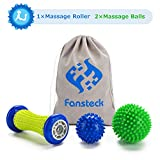 Fußmassageroller und Massagebälle für Plantarfasziitis, Fansteck Faszienball Roller & Bälle Set, Schmerzlinderung für Hacken & Fußgewölbe, Stressreduzierung und Entspannung durch Triggerpunkt-Therapie
