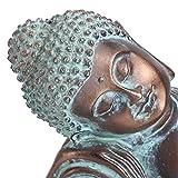 LIKJ Buddha-Statue-Figur, Meditations-Dekor Buddha-Statue-Kunst-Dekoration-Skulptur-Dekoration mit Harzprozess für Innen/Außen für Gartenhof
