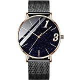 wasserdichte Uhr-Net Red Star-Paar-Quarz-Uhr-Gurt-Mesh-Gürtel einfache Art und Weise for Männer und Damen-Armbanduhr Gentleman (Color : Male Models 1)