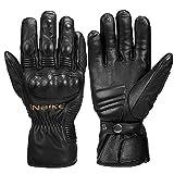INBIKE Motorrad Handschuhe Damen Herren Winter Motorradhandschuhe Thermo Warm Winterhandschuhe Schwarz XL