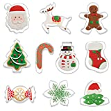 Ausstecher Ausstechformen Weihnachten,10 Stück Keksausstecher Weihnachten Set Fondant Keksausstecher aus Edelstahl,Plätzchenausstecher Plätzchenförmchen Keksformen,für Motivtorten Tortendeko Kekse