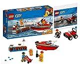 Legoo Lego City Set: 60213 Feuerwehr am Hafen + 30361 Feuerwehr-Buggy, ab 5 Jahre