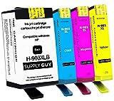 SupplyGuy 4 Druckerpatronen kompatibel mit HP 903 XL / 903XL (Chip-Update März 2021) passend für OfficeJet 6900 6950 OfficeJet Pro 6860 6868 6950 6960 6968 6970 6975 6978