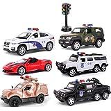 Toy model Spielzeug Kinder Spielzeug Polizei Auto Krankenwagen Sportwagen Modell Legierung Auto Geschenkbox Set Junge Auto Simulation Polizei Auto Modell (Größe : Paket 2)