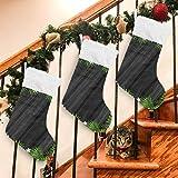 1 Stück Weihnachtsbaum-Äste Holz Weihnachtssocken, Geschenktüten für Kinder, Plüsch-Manschette, hängende Strümpfe für Familie, Urlaub, Weihnachten, Party, Dekoration, Länge 45 cm, Samt, multi, 1 Stück