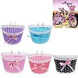 Injoyo 4 Teilige Fahrrad Zubehör: 2 Fahrradkorb Kinderfahrradkorb Kinder Lenker Korb + 2 Glocke Marienkäfer Klingel für Kinderfahrrad Dekoration