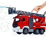1:20 Rote drahtlose Fernbedienung Feuerwehrauto Spielzeug Power Toy mit leichtem und realistischem Klang Wasserstrahlfunktion Leuchtendes Geschichtenerzählen Auto Spielzeug 3 Jahre altes Mädchen Mäd