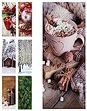 Hochwertiger Textilbanner Weihnachten/Winter – Große Auswahl – 180cmx75cm – Beidseitig Bedruckt - Schaufenster Deko - Wanddeko/Textilbild/Fotoprint - Fensterdekoration & Wandbehang (Süße Weihnacht)
