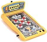 Space Pinball Toy Mini Flipperspielzeug Kinder Spielen - Elektronische Lichter und Kinderpuzzle Flipper Arcade Machine Spieltisch Top Eltern-Kind wettbewerbsfähige interaktive Doppelkampf-Gelb