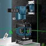 12 Linien 3D-Grünlaser-Nivelliergeräte Selbstnivellierendes 360-fach horizontales und vertikales Kreuz Leistungsstarke Grünlaser-Linie IP 54 Blue