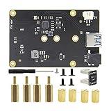 Geekworm Raspberry Pi 4 X862 M.2 NGFF 2280/2260/2242/2230 SATA SSD Speichererweiterung Board mit USB 3.1 Jumper nur für Raspberry Pi 4 Modell B