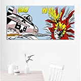 Art Roy Lichtenstein Abstrakte Plakate Pop Art Leinwand Malerei Wandkunst Bilder für Wohnzimmer Big Size-Rahmenlos-60X120cm