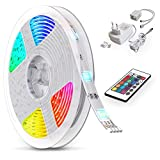 B.K.Licht LED Strip 5 m, LED Stripes, Lichterkette, Band, Streifen, LED Leiste, LED Lichtleiste, LED...