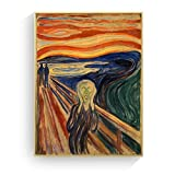 hetingyue Rahmenlose Scream Home Run Scream Leinwand Kunstdruck Wand Poster Bild Home Decoration 50x70CM