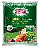 Substral Grünkorn Universal, nitratfreier Langzeit-Gartendünger für Blumen, Sträucher, Koniferen, Gemüse, Obst und Rasen, 3 kg
