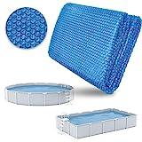 tillvex Pool Solarabdeckplane Rechteckig 600x400 cm | Solarfolie Stärke 120 µm | Solarplane zuschneidbar | Poolheizung für Wassererwärmung