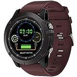 H/L Smartwatch, IP68 wasserdichte Intelligente Uhr Mit IPS HD-LCD-Farbbildschirm Und Built-In Mehreren Sportarten Geeignet Für Herzfrequenzüberwachung,Rot