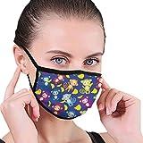 NA Baumwollmaske Anti-Staub-Mundmaske Grafik Mehrfarbige Federn Radfahren Camping Halbgesichts-Mundmasken fr Jungen Mdchen Mnner Frauen