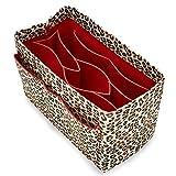 Taschen-Organizer mit Reißverschluss, Filztasche für Speedy Neverfull Longchamp Gracefull, leopard, large(Speedy 35, Neverfull MM)