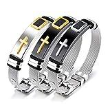 SJYT Quer Siebband justierbares Armband der Männer Titanstahlarmband, Herrenmodelle Einfache Persönlichkeit Herren Armband Armbänder Zubehör