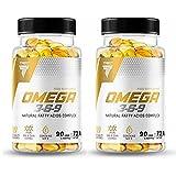 Trec OMEGA 3-6-9   Natürliches Fettsäurekomplexes Fischöl   ALA EPA DHA CLA   Unterstützt Herz, Gehirnfunktion und Augengesundheit (180 Kapseln)
