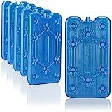 com-four® 6X Flaches Kühlakku - Platzsparend und ideal für Kühlbox und Kühltasche - Schmales Kühlelement für Camping und Strand (06 Stück - mittel)