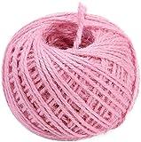 RMJAI 50cm Twine 3 Mm Halloween Valentinstag Weihnachten Verpackung Schnur-Seil for DIY Fertigkeit (Color : Pink)