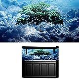 HIMACar Aquarium Hintergrund Plakat,3D HD Aquarium Rückwandfolie,Aquarium Hintergrunddekoration,Dekoration PVC Klebstoff Unterwasser Selbstklebend, Dekoration(60 * 30Cm),Sky Tree