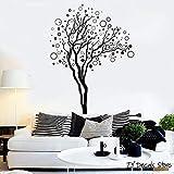 ganlanshu Baum wandtattoo abstrakt baumhaus innen Schlafzimmer Kunst Wald Baum Aufkleber Kunst Vinyl Dekoration kinderzimmer wandbild 63cmx81cm
