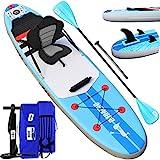 DURAERO Stand up Paddling Board Aufblasbare SUP Board Set, Paddling Surfbrett, Wassersport Kajak Sitz, 305x76x15cm, Bis 110kg
