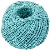 2mm 50m Natürliche Jute Twine String Rolls for Kunstwerke Und Kunsthandwerk, Geschenkverpackung, Bildanzeige Und Garten (Color : Blue 10)