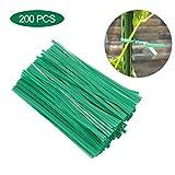 Easy-topbuy 200PCS / Pack Plant Twist Tie Blumenzweig-Befestigungskrawatte 15 cm, Multifunktionaler Kunststoffbeschichteter Gartentrainingsdraht Drehbinder Für Pflanzen Grün
