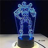 Apex Legends Wraith Figur 3D LED Nachtlicht tle Royale Schlafzimmer Dekor Licht Kinder Freund Geburtstagsgeschenk Tischlampe