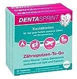 DENTASPRINT Kautabletten | Zähneputzen-To-Go ohne Wasser und ohne Zahnbürste | Vorteilspack | 72 Kautabletten | vegan | zuckerfrei | hergestellt in Deutschland