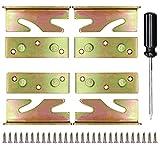HJFH Bettverbinder Bettbeschlag Metall Befestigungsverbinder Bettschienenhalterungen Einhängebeschlag Schwerlast für Bettrahmenprojekt, Möbel Dicker Holz Bett Halterung + Schrauben und Schraubenzieher