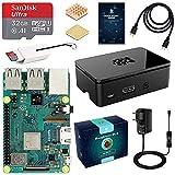 LABISTS Raspberry Pi 3 Modell B Plus (B +) Ultimatives Starterkit mit 32GB Class 10 SanDisk Micro SD Karte, 2,5A EIN/aus-Schaltnetzteil und Premium Schwarz
