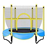 M-YN Gartentrampolin Outdoor 5 FT Trampolin mit Sicherheitskabine -Indoor oder Outdoor-Trampolin for Kinder (Color : Blue, Size : 1.5M)